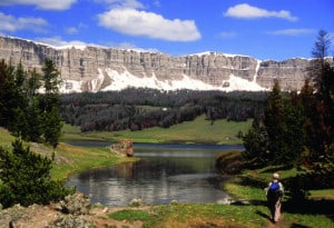"""""""The CDT comes around the west side of Brooks Lake, WY."""""""